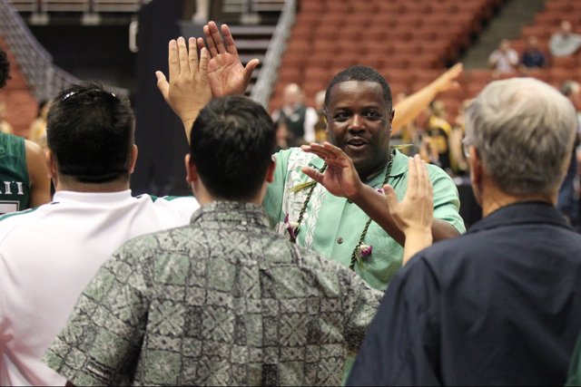 The University of Hawaii Rainbow Warriors defeat the Long Beach State 49ers