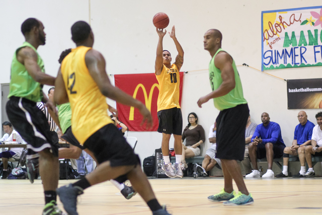 2015 College Summer League basketball at Manoa Valley District Park, Honolulu, HI on July 21 2015. Photo: Brandon Flores.